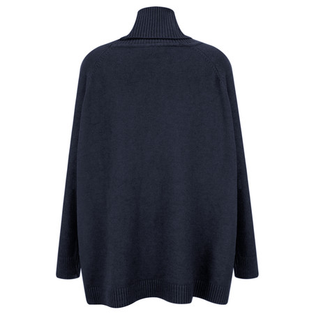 Amazing Woman Anna Easy Fit Roll Neck Jumper  - Blue