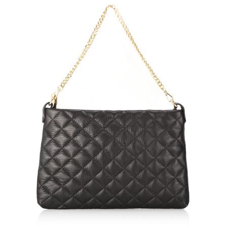 Gemini Label  Pavia Quilted Leather Shoulder Bag - Black