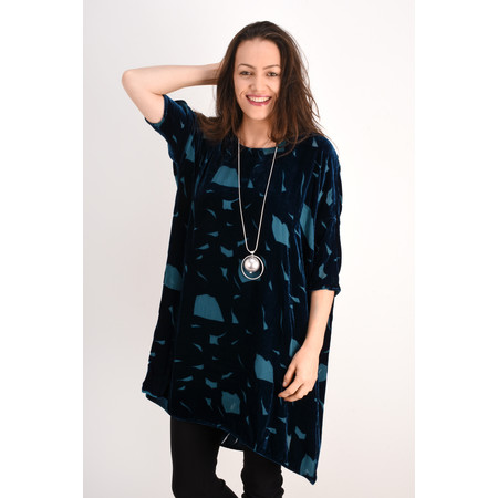 Grizas Julki Devore Velvet Tunic - Green