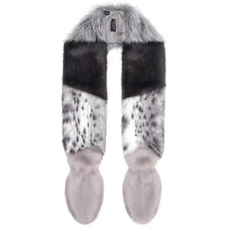 Helen Moore Vixen Faux Fur Scarf - Grey