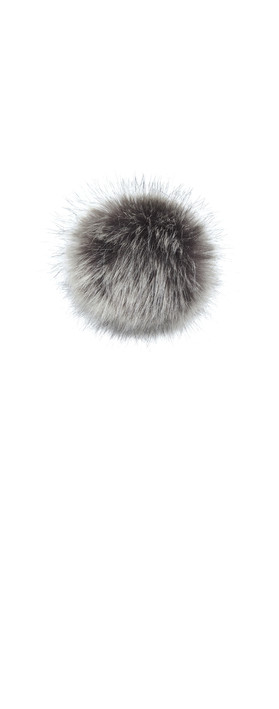 Helen Moore Faux Fur Single Pom Pom Lady Grey