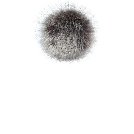 Helen Moore Faux Fur Single Pom Pom - Grey
