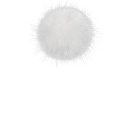 Helen Moore Faux Fur Single Pom Pom - White
