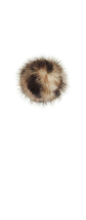 Helen Moore Faux Fur Single Pom Pom Ocelot