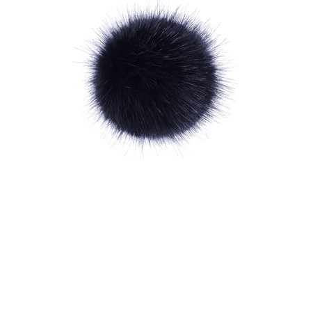 Helen Moore Faux Fur Single Pom Pom - Blue