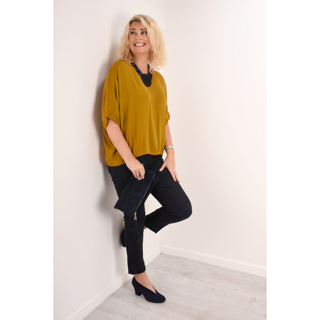 Aisling Dreams Leni Crepe Relaxed Top - Yellow