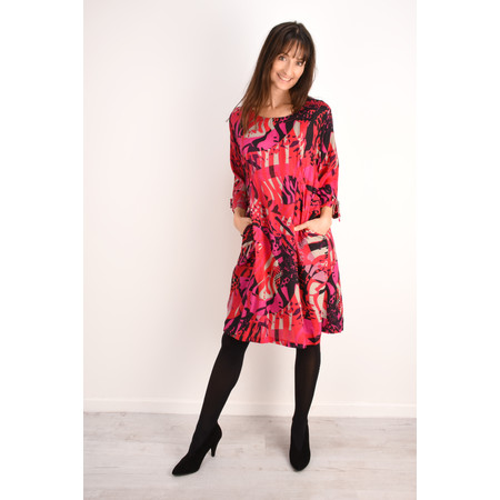 Masai Clothing Abstract Print Nylla Dress - Pink