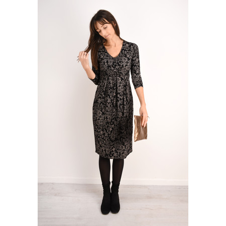 Masai Clothing Nynna Floral Dress - Black