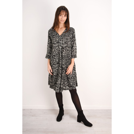 Masai Clothing Nita Leopard Print Dress - Grey