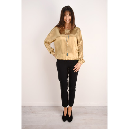 Sandwich Clothing Silk Look Viscose Blouse - Gold