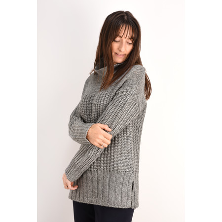 Sandwich Clothing Metallic Chunky Knit Jumper - Grey