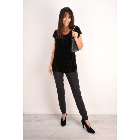 Masai Clothing Emely Velvet Top - Black