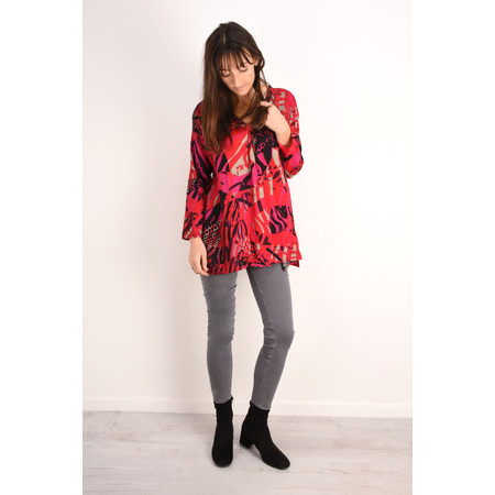 Masai Clothing Abstract Print Berta Top - Pink