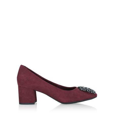 Marco Tozzi Mila Dandy Buckle Court Shoe - Purple