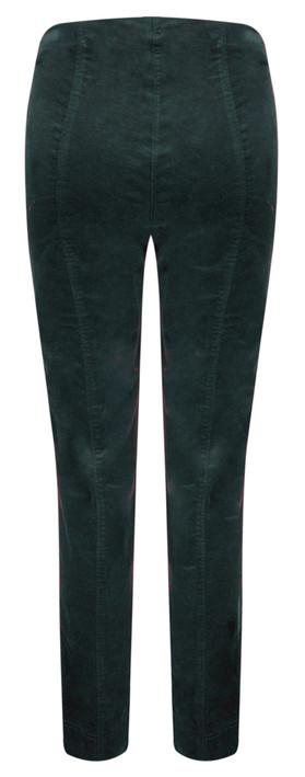 Robell Trousers Marie Stretch Cotton Velvet Slim Full Length Trouser Dark Teal