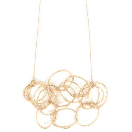 Dansk Smykkekunst Eve Sculpted Multi Necklace - Gold