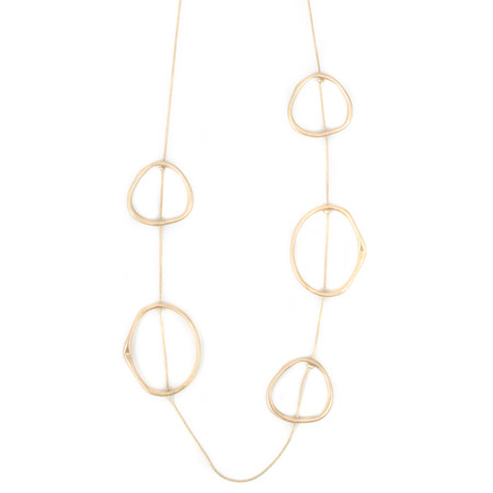 Dansk Smykkekunst Eve Sculpted Long Necklace - Gold