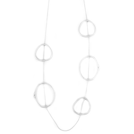 Dansk Smykkekunst Eve Sculpted Long Necklace - Metallic