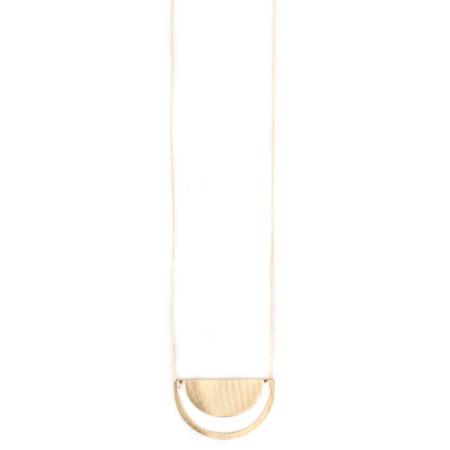 Dansk Smykkekunst Tara Half Circle Necklace - Gold