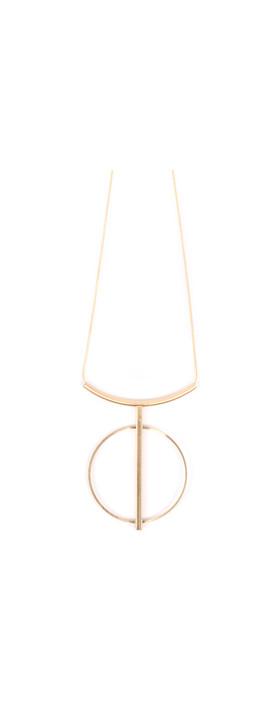 Dansk Smykkekunst Tamara String Circle Necklace Gold