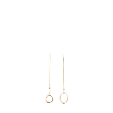 Dansk Smykkekunst Eve Sculpted Hanger Earring - Gold
