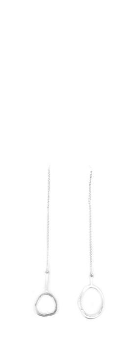 Dansk Smykkekunst Eve Sculpted Hanger Earring Silver