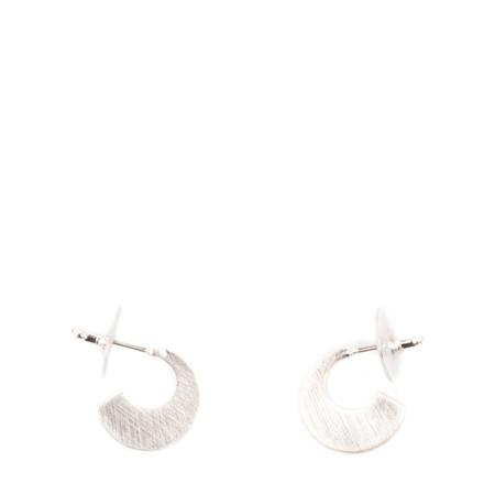 Dansk Smykkekunst Tara Small Sun Earring - Metallic