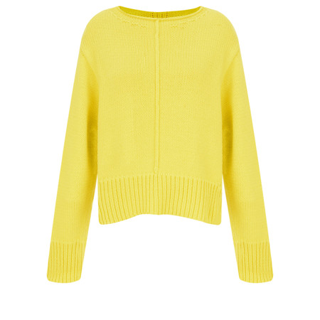 Sandwich Clothing Side Split Cotton Jumper - Yellow
