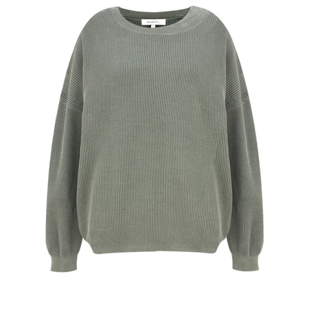 Sandwich Clothing Batwing Rib Knit Jumper - Green