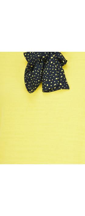 Sandwich Clothing Bow Neck Jumper Warm Yellow