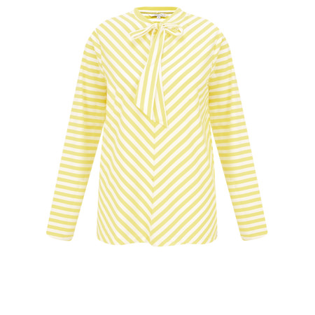 Sandwich Clothing Striped Bow Detail Top - Yellow