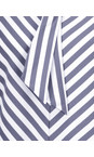 Sandwich Clothing Dark Sapphire Striped Bow Detail Top