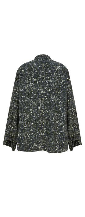 Sandwich Clothing Ditsy Spot Shirt Dark Sapphire