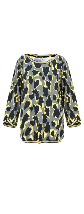 Sandwich Clothing Abstract Animal Spot Print Blouse Deep Jade
