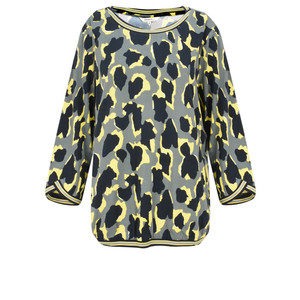 Sandwich Clothing Abstract Animal Spot Print Blouse