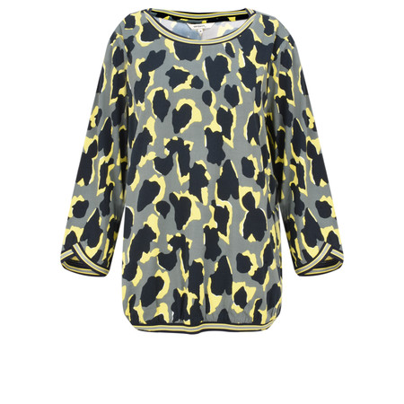 Sandwich Clothing Abstract Animal Spot Print Blouse - Green