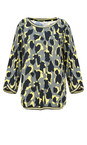 Sandwich Clothing Deep Jade Abstract Animal Spot Print Blouse