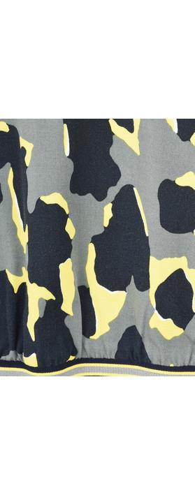 Sandwich Clothing Abstract Animal Spot Print Blouse Deep Jade
