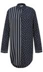 Sandwich Clothing Dark Sapphire Spots & Stripes Tunic Shirt