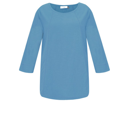 Adini Cotton Slub Ruth Top - Blue