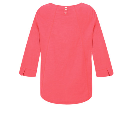 Adini Cotton Slub Ruth Top - Red