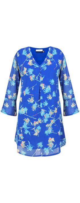 Adini Camilla Print Zoe Tunic Blue