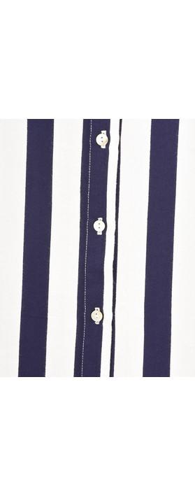 Adini Mainsail Stripe Surf Tunic Navy/White