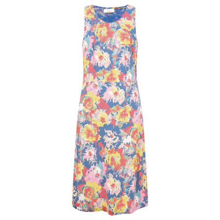 Adini Octavia Print Jade Dress - Blue