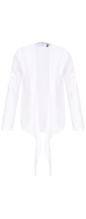Adini Cotton Slub Sylvia Wrap Top White