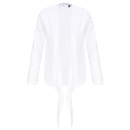 Adini Cotton Slub Sylvia Wrap Top - White