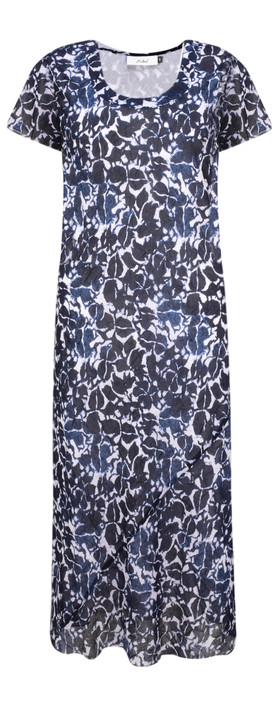 Adini Udaipur Print Udaipur Dress Indigo