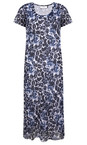 Adini Indigo Udaipur Print Udaipur Dress
