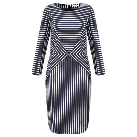 Sandwich Clothing Striped Jersey Dress - Blue