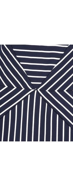 Sandwich Clothing Striped Jersey Dress Dark Sapphire